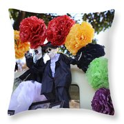 Male Female Color Doll Skeleton  Throw Pillow