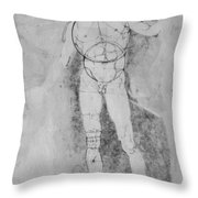 Male Nude Adam Throw Pillow