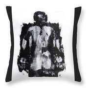Male Nude Back Throw Pillow