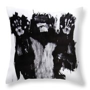 Male Nude Front Throw Pillow