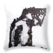 Male Nude Side Throw Pillow