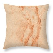 Male Nude [verso] Throw Pillow