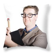 Male Office Pa Writing In Diary. Event Planner Throw Pillow by Jorgo Photography - Wall Art Gallery