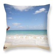 Male Runner Throw Pillow