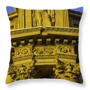 Male Statue Palace Of Fine Arts Throw Pillow
