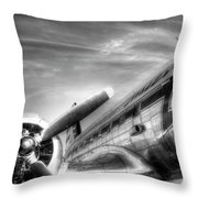 Malev Airlines Ilyushin Il-14 Throw Pillow