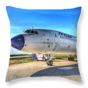 Malev Airlines Tupolev Tu-154 Throw Pillow