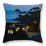 Malibu Beach House - Evening Throw Pillow