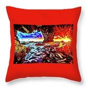 Malibu Sunset Throw Pillow