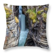 Maligne Canyon Cascades Throw Pillow