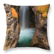Maligne Canyon Vertical Panorama Throw Pillow