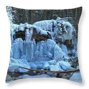 Maligne Canyon Winter Wonders Throw Pillow