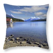 Maligne Lake -- Jasper Alberta Canada Throw Pillow by Daniel Hagerman