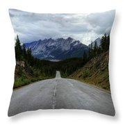 Maligne Lake Road Jasper National Park Throw Pillow