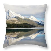 Malingne Lake Reflection, Jasper National Park  Throw Pillow