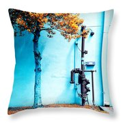 Mall Pipe Throw Pillow