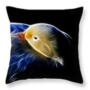 Mallard Duck Fractal Throw Pillow