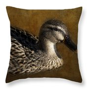 Mallard Matriarch Throw Pillow