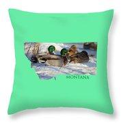 Mallard Montana Throw Pillow