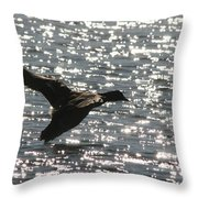 Mallard Twilight Landing Throw Pillow