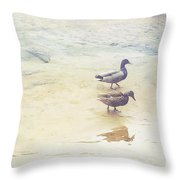 Mallards At The Chattahoochee River Throw Pillow