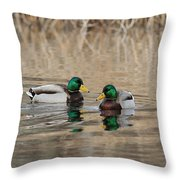Mallards On The Pond Throw Pillow