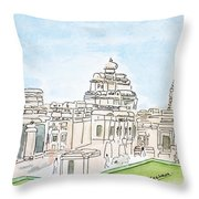 Mallikarjuna Swami Jyotirling Throw Pillow