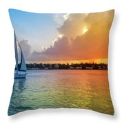 Mallory Square Sunset Celebration Throw Pillow