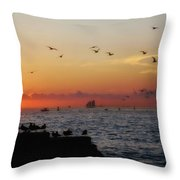 Mallory Square Sunset Throw Pillow