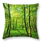 Mallory Woods Throw Pillow