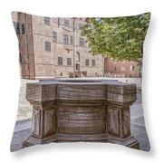 Malmohus Castle Courtyard Throw Pillow