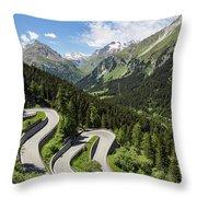 Maloja Pass In Graubunden, Switzerland Throw Pillow
