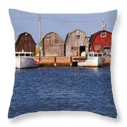 Malpeque Harbour Panorama Throw Pillow