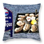 Malpeque Oyster Poster Throw Pillow