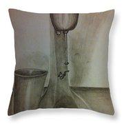Malt Machine Throw Pillow