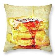 Malt Waffles Throw Pillow