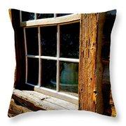 Maltese Cross Cabin Window Throw Pillow