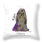 Maltese Pop Art Throw Pillow