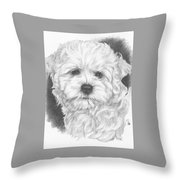 Malti-chon Throw Pillow