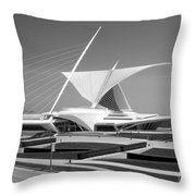 Mam In Bw Throw Pillow