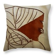 Mama 3 - Tile Throw Pillow
