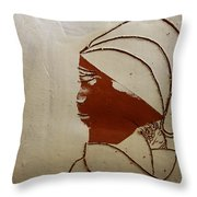 Mama 4 - Tile Throw Pillow