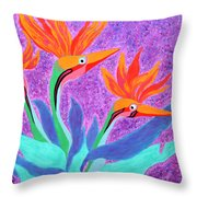 Mama And Her Chicks By Ken Tesoriere Throw Pillow