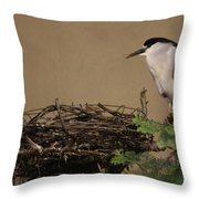 Mama And Nest Throw Pillow