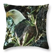 Mama Eagle  Throw Pillow