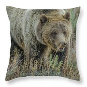 Mama Grizzly Blondie Throw Pillow