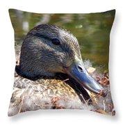 Mama Nesting Throw Pillow