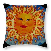 Mama Sun Throw Pillow
