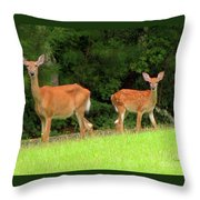 Mama Why Throw Pillow