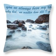 Mama, You've Always Been My Rock - Mother's Day Card Throw Pillow